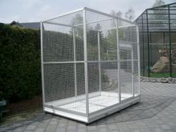 Zimmervolieren: 200 x 150 x 200 cm 'BxTxH' - Eloxiert Silbermatt